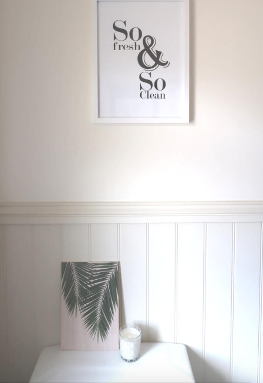 making our house a home with posterlounge prints and art review so fresh and so clean poster leafy bathroom ideas