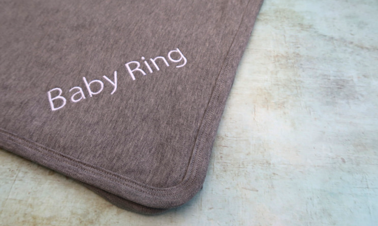 the baby box company personalised hamper review 100% cotton grey blanket embroidered