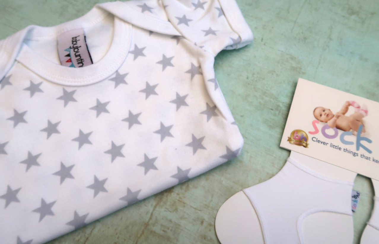 the baby box company personalised hamper review baby bunting grey star print bodysuit vest sock ons white do they work