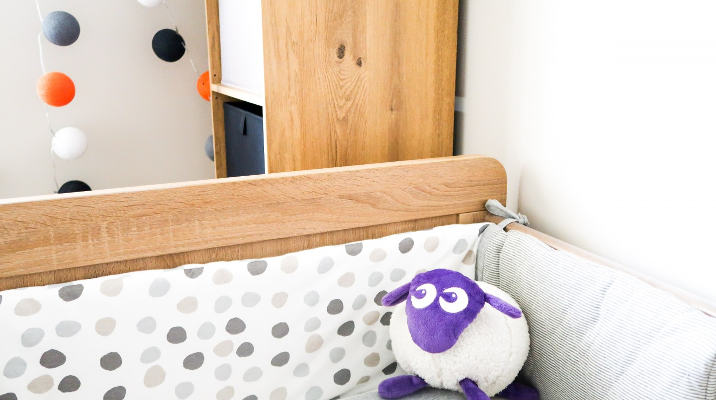 making our house a home baby number three nursery update the essential one little birdy cot bumper ewan the dream sheep purple b&q konnect unit oak cable and cotton string of lights