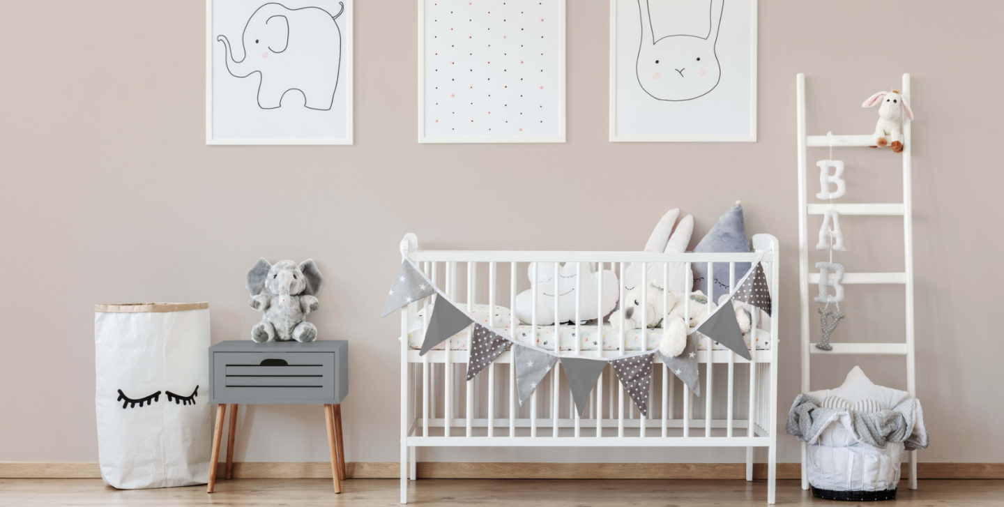 making our house a home baby number three nursery update valspar paint rabbit's foot gender neutral nursery pair with moon shot for two tone pastel