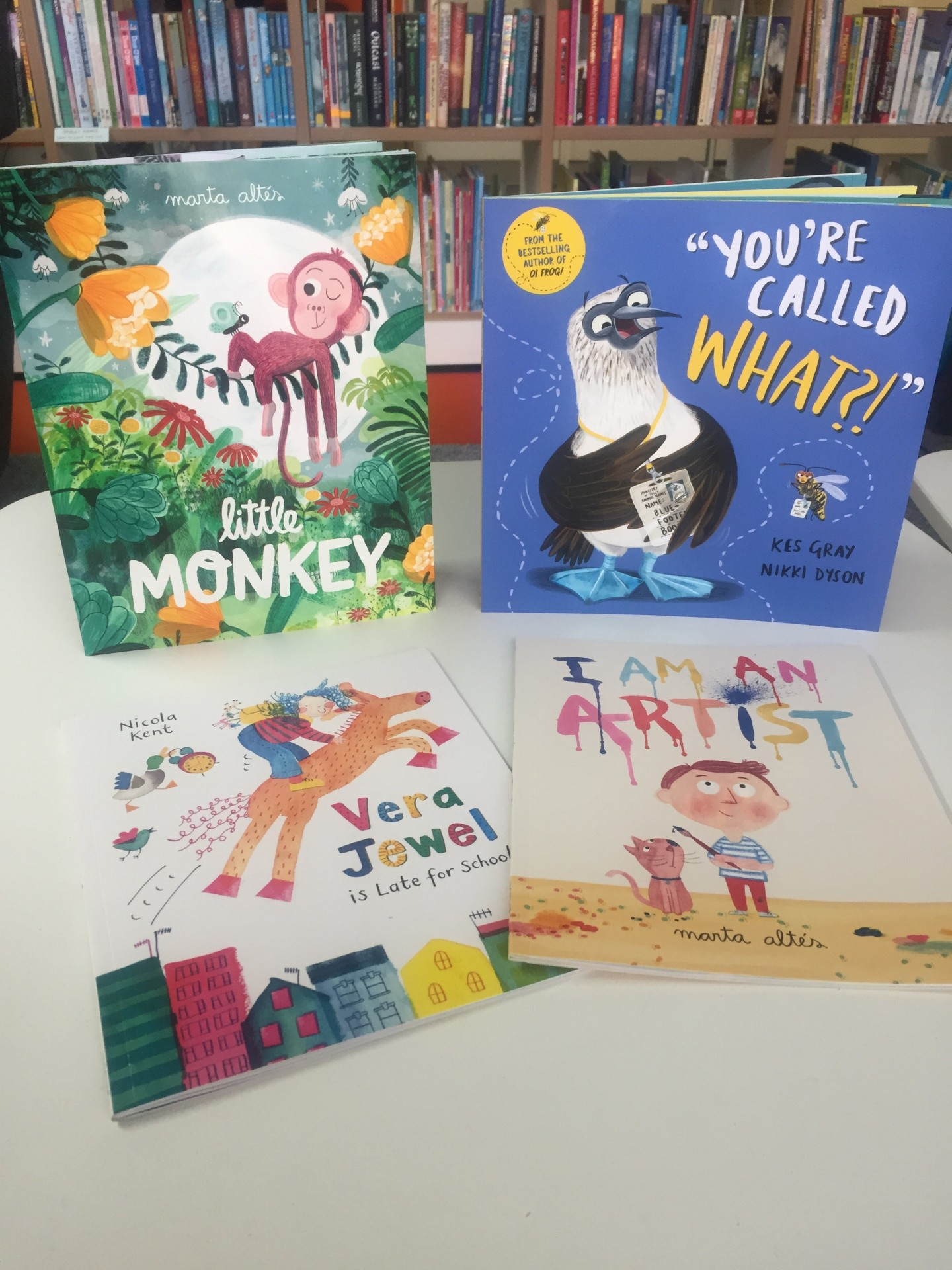 booktrust book trust time to read campaign september 2018 twitter party giveaway little monkey marta altes you're called what vera jewel is late for school i am an artist book collection