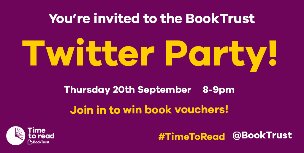 booktrust book trust time to read campaign september 2018 twitter party