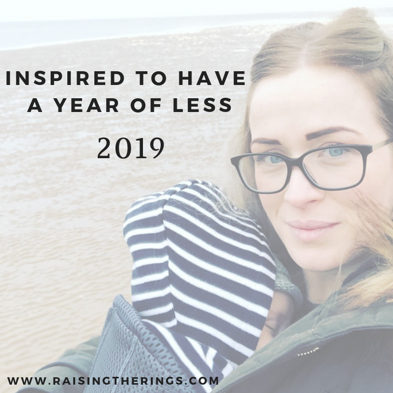 inspired to have a year of less clutter stress pressure spending waste 2019 goals resolutions achievements targets
